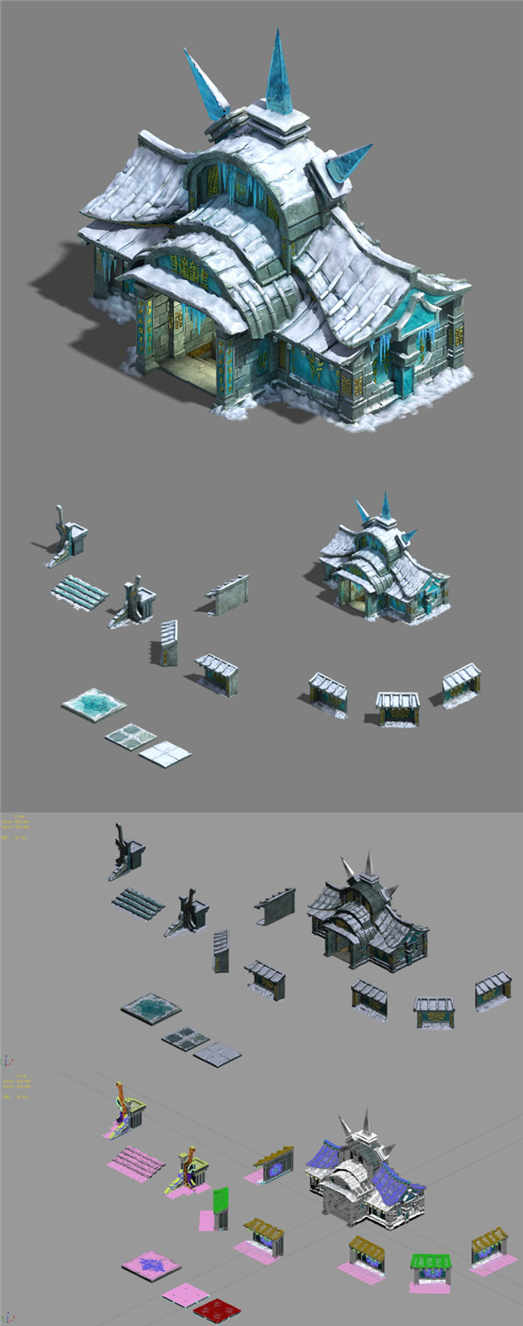 Ice and Snow - Architecture 02 - 3DOcean Item for Sale