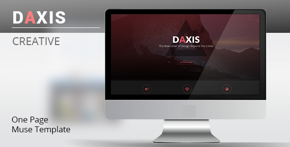 DAXIS One Page Muse Template