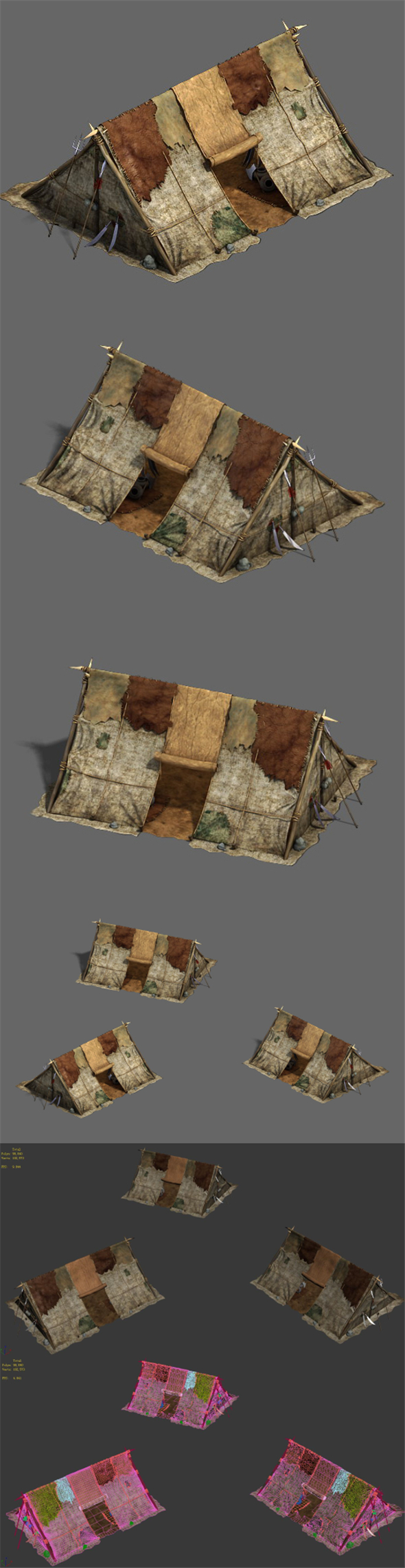 Barracks - soldiers tents - 3DOcean Item for Sale