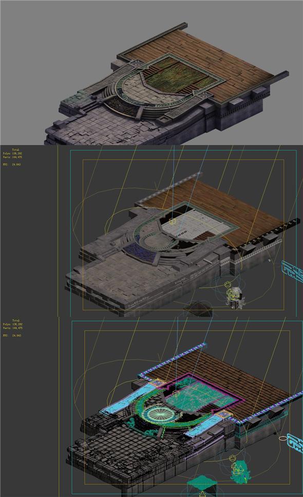 Tribal - surface steps - 3DOcean Item for Sale