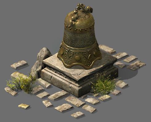 Broken bronze bells