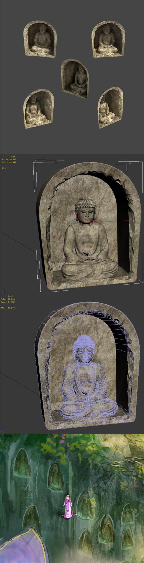 Zen - Wall Buddha - 3DOcean Item for Sale