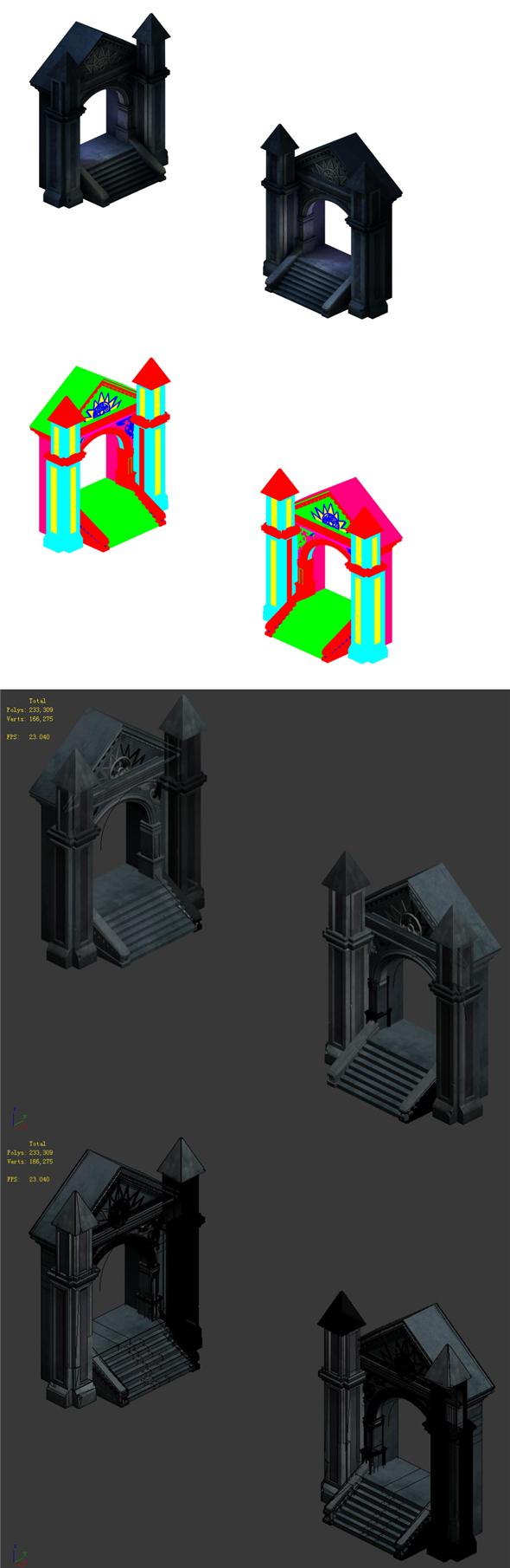 City Underground City Palace - Shimen - 3DOcean Item for Sale