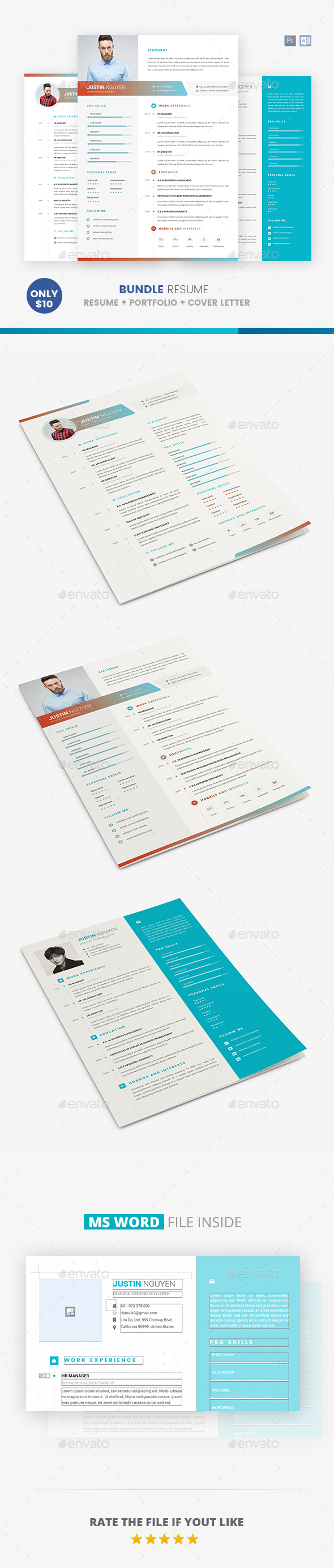 Bundle Resume - Resumes Stationery