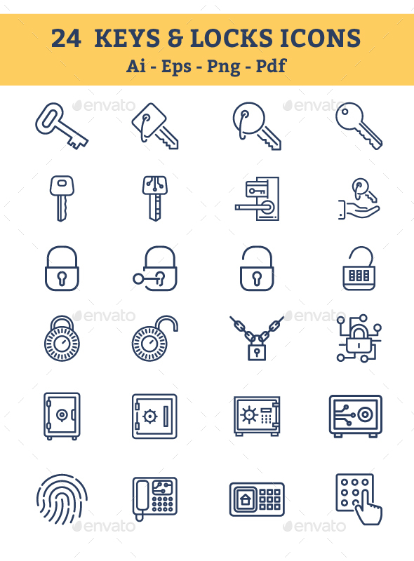 Keys & Locks Icons - Icons