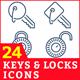 Keys & Locks Icons