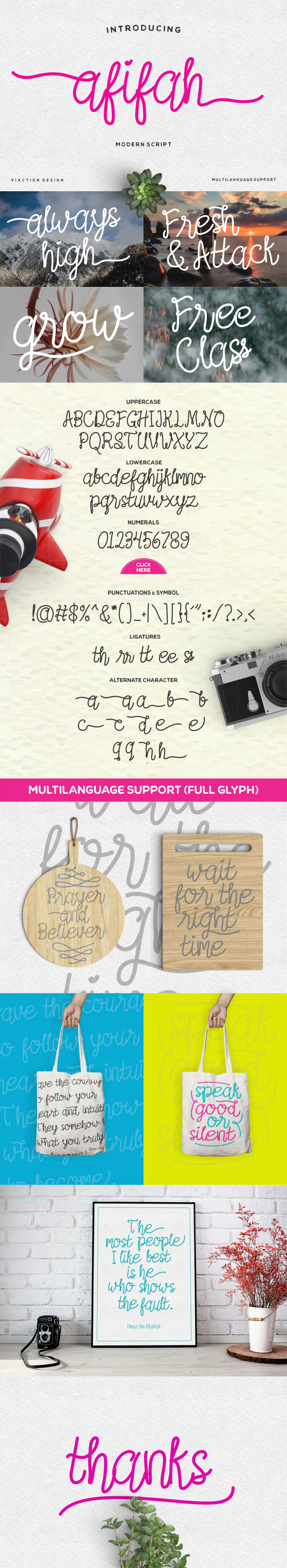 Afifah Script - Hand-writing Script