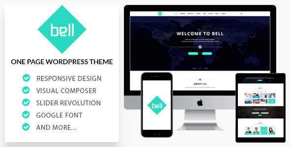 Bell - Responsive OnePage WordPress Theme