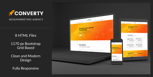 Converty — Responsive Eye-Catching SEO/Marketing Agency HTML Template