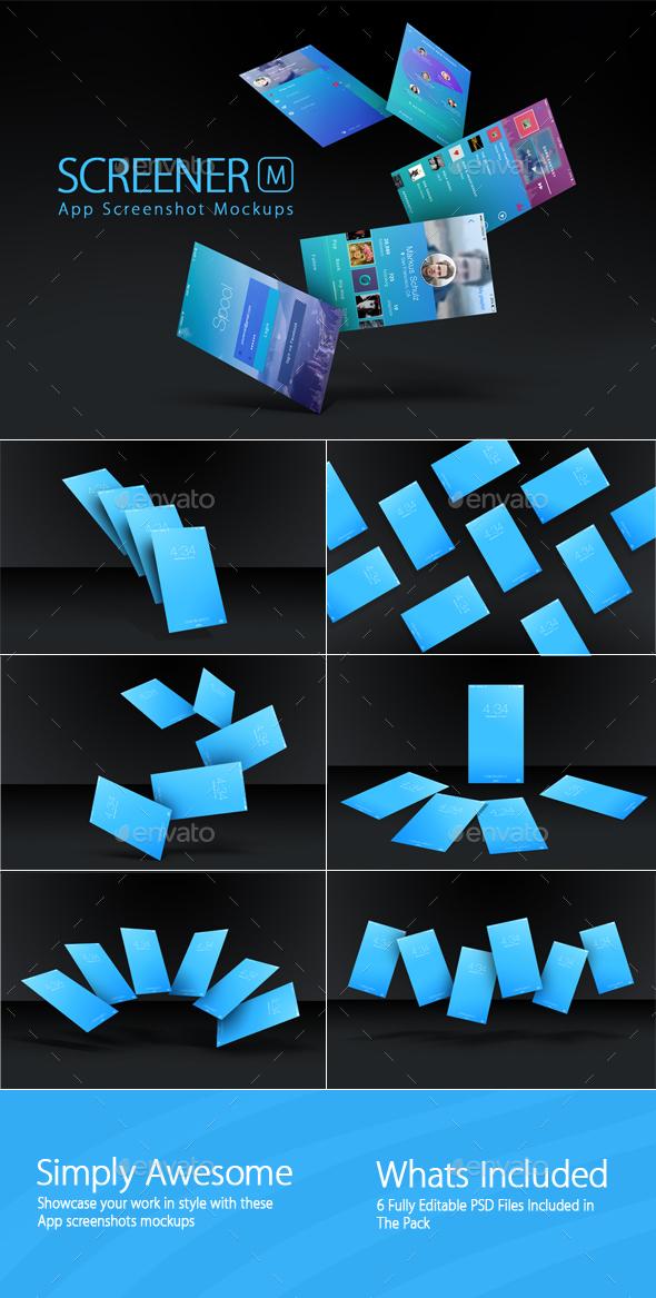 Screener App Screenshot Mockups 1 - Mobile Displays