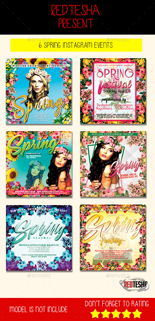 SPRING Instagram Banner Events - Banners & Ads Web Elements