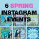 SPRING Instagram Banner Events