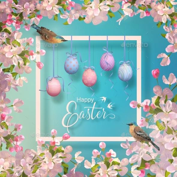 Easter Vector Frame - Religion Conceptual