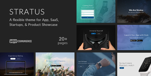 Stratus - App, SaaS & Product Showcase