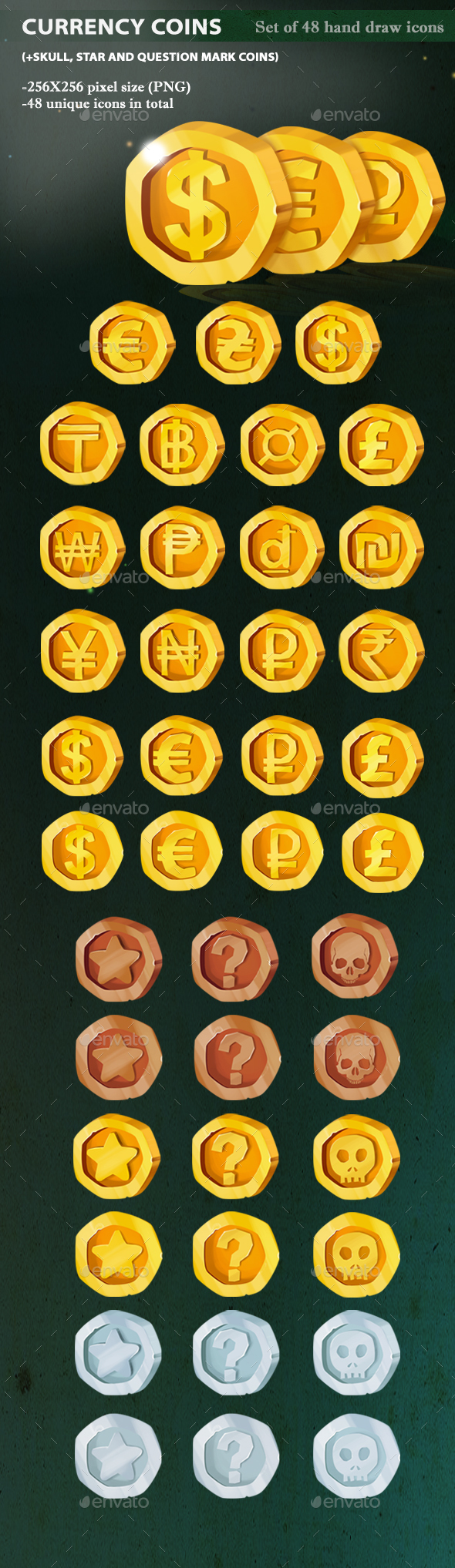 Currency Coins - Miscellaneous Game Assets