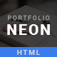 NEON - Personal Portfolio HTML5 Template - ThemeForest Item for Sale