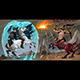 Fighting Scene Between Dark Elf and Centaur - GraphicRiver Item for Sale