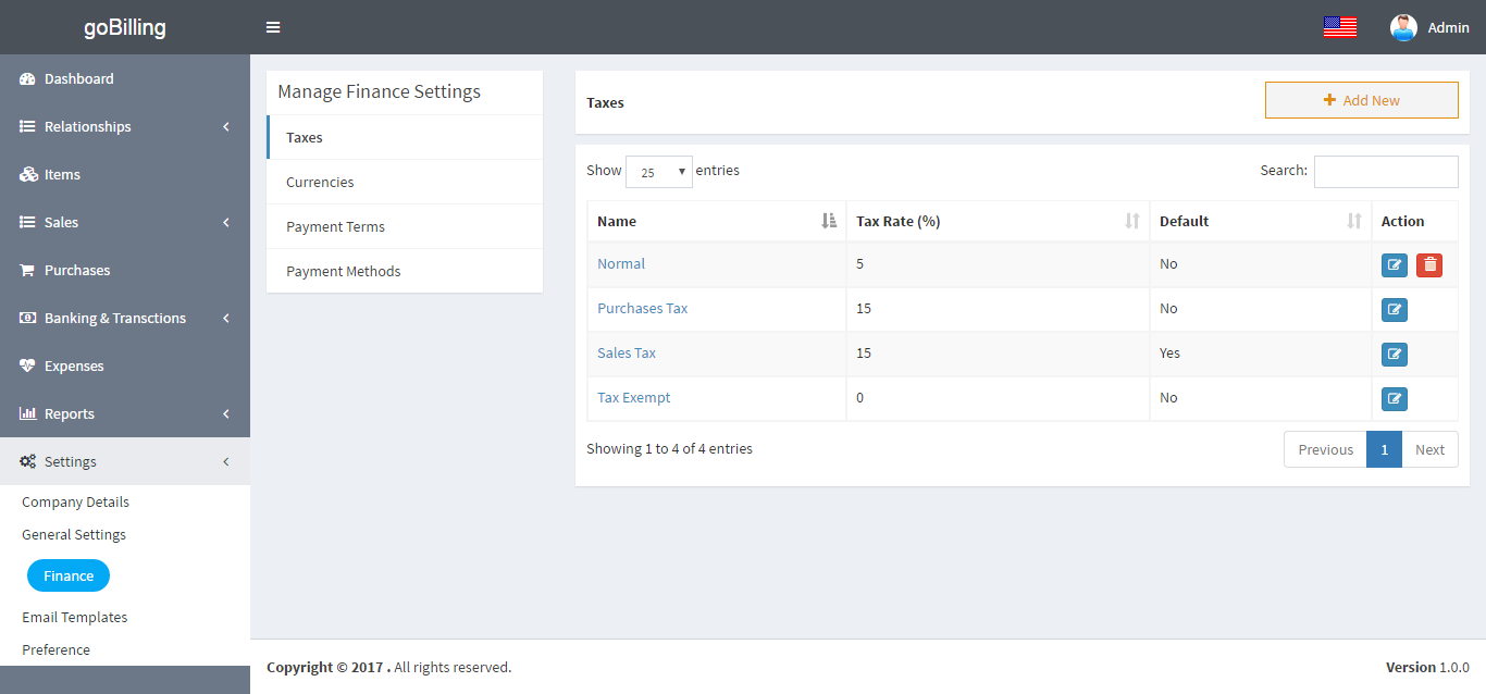 Gobilling Invoicing Billing Amp Accounting System By