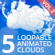5 Animated Loopable Clouds. Vol.2 - VideoHive Item for Sale