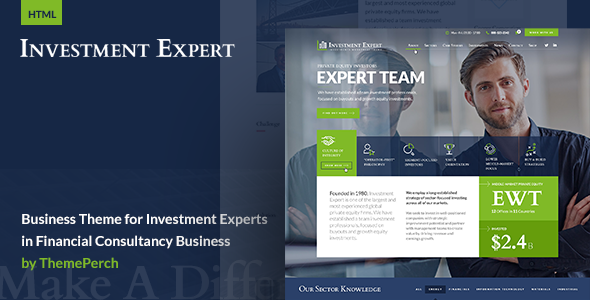 Business Template for Investment Experts in Financial Consultancy - Business Corporate