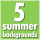 5 Summer Backgrounds - VideoHive Item for Sale