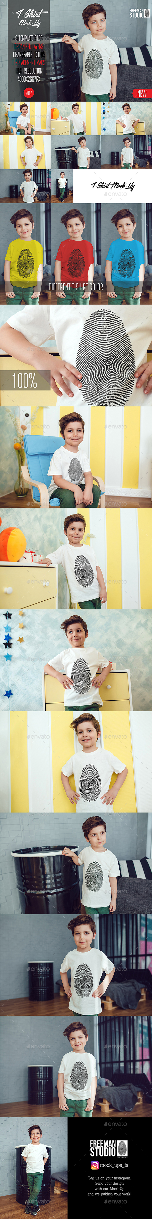 Kids T-Shirt Mock-Up Vol.2 2017 - Product Mock-Ups Graphics