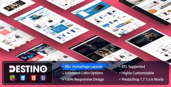 Destino – Digital/Fashion Store PrestaShop 1.7 and 1.7.1 Theme