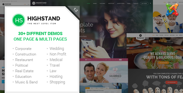 Highstand - Responsive MultiPurpose Joomla Theme