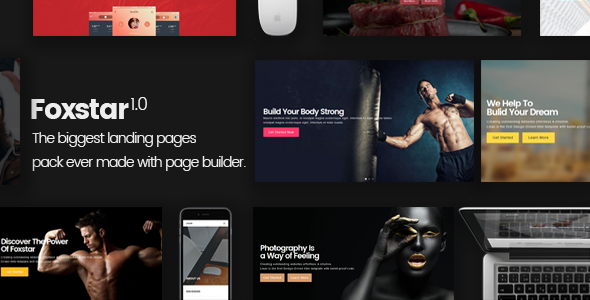 Foxstar Multipurpose Landing Page Pack with Page Builder