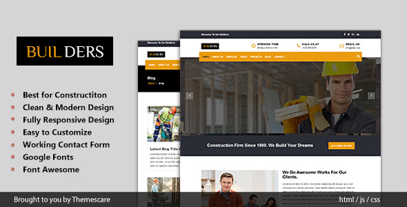 Builders – Construction & Business HTML Template