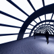 Silhouette people in the tunnel - VideoHive Item for Sale