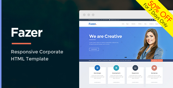 Fazer - Corporate Multipurpose HTML Template