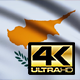 Flag 4K Cyprus On Realistic Looping Animation With Highly Detailed Fabric
