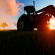 Tractor working in the field sunset - VideoHive Item for Sale
