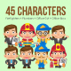 45 Characters - GraphicRiver Item for Sale
