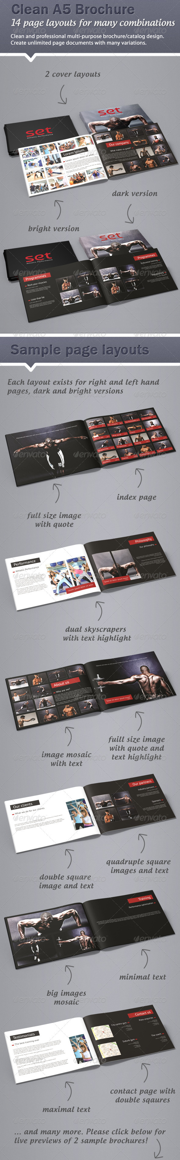 Clean, professional A5 brochure / catalogue - Corporate Brochures