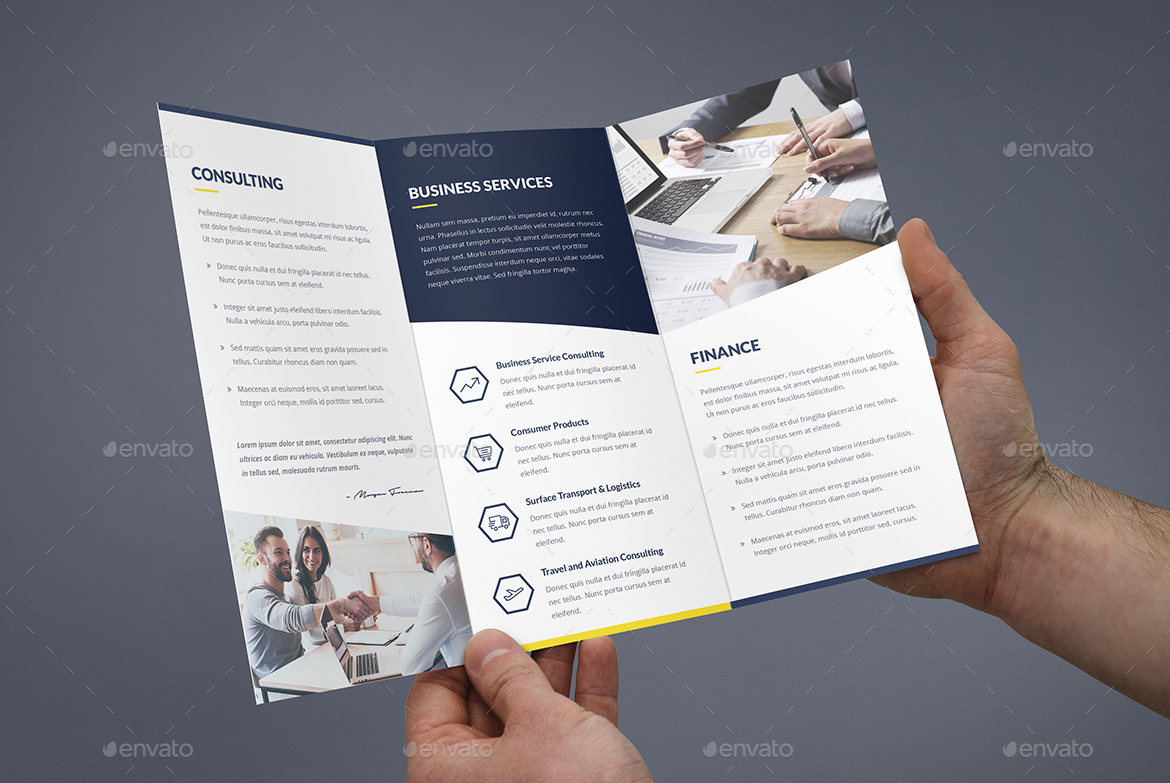 Brochure Finance And Business Tri Fold By Artbart