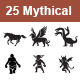 Mythical Creatures Vector Icons - GraphicRiver Item for Sale