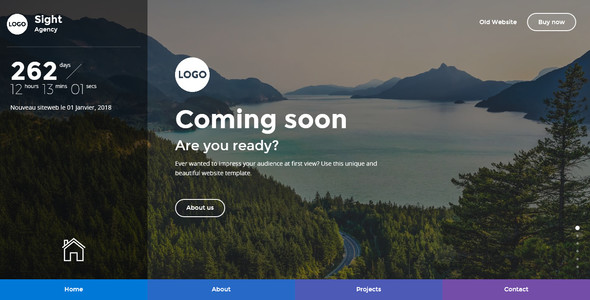 Sight - Beautiful and Creative Website Template for Coming Soon Page - Under Construction Specialty Pages