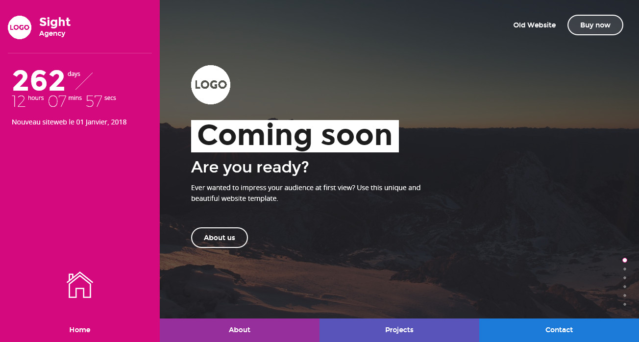 Sight - Beautiful and Creative Website Template for Coming Soon Page ...