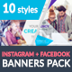 Facebook + Instagram Banners Pack-2 - GraphicRiver Item for Sale