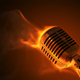 Microphone On Fire - VideoHive Item for Sale