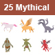 Mythical Creatures Color Vector Icons - GraphicRiver Item for Sale