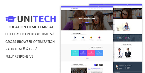 Image of Unitech - Education HTML Template