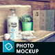 Organic Food Photo Mockup / Milk & Eggs - GraphicRiver Item for Sale
