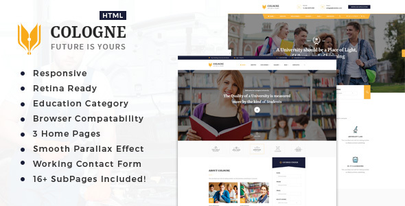 Cologne : Education  HTML5 Template
