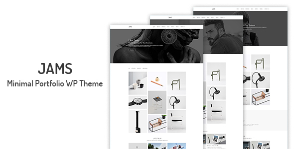 Image of Jams - Minimal Portfolio WordPress Theme
