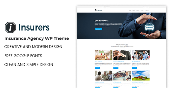 Insurers - Insurance Agency WordPress Theme - Business Corporate