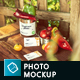 Organic Food Photo Mockup / Vegetables - GraphicRiver Item for Sale
