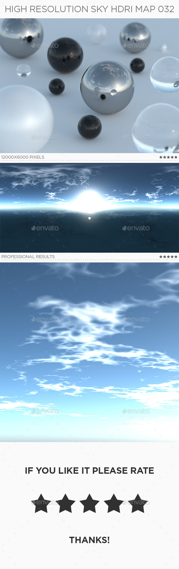 High Resolution Sky HDRi Map 032 - 3DOcean Item for Sale